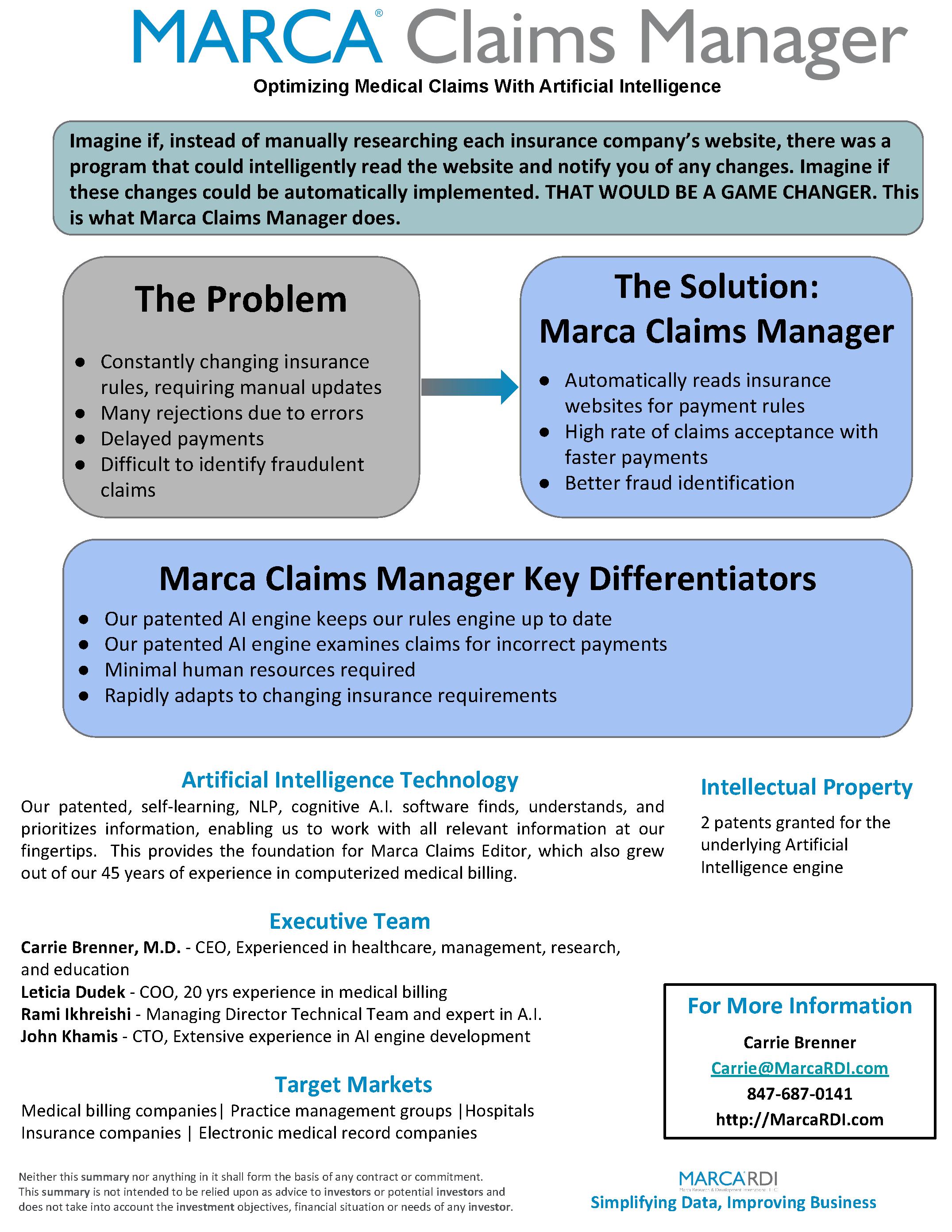 Marca RDI - one sheet summary June 2020 (1)